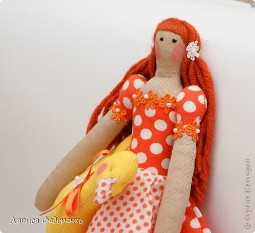 Кукла Тильда хозяюшка Горошинка фото 3