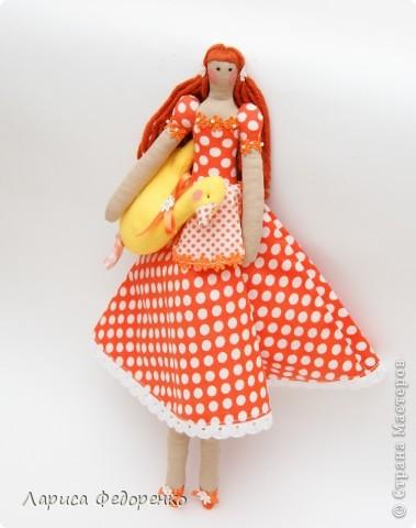 Кукла Тильда хозяюшка Горошинка фото 2