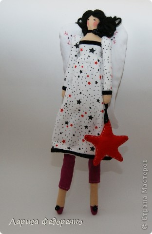 Кукла Тильда винтажный ангел Звёздочка фото 3