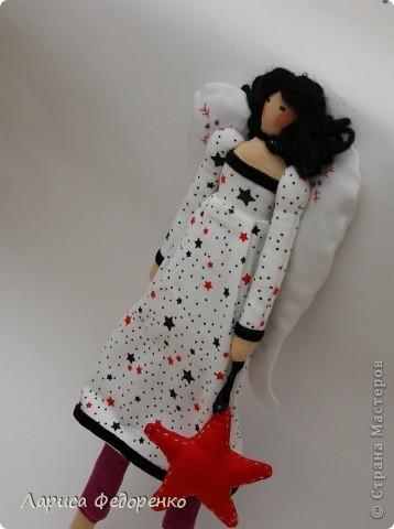Кукла Тильда винтажный ангел Звёздочка фото 1