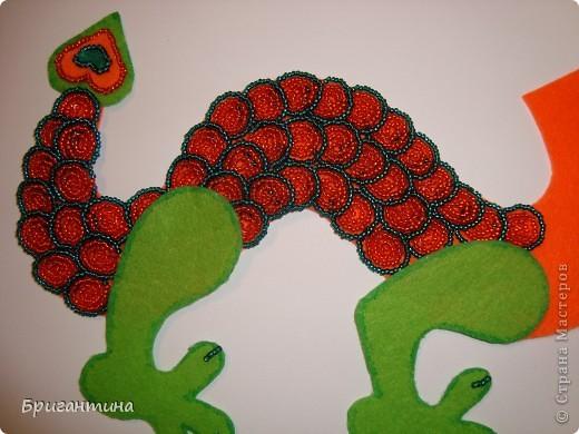МК Бисерный квиллинг дракон.