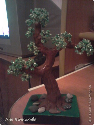 Деревья и цветы из бисера. фото 2