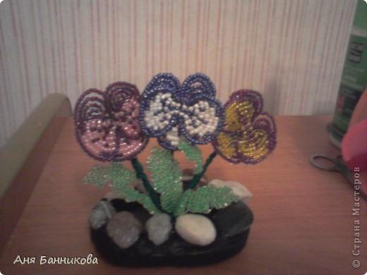 Деревья и цветы из бисера. фото 3