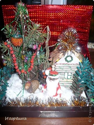 "Эта моя поделка на конкурс ""Избушка Деда Мороза"", все из природного материала."