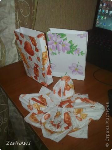 Пакетики из бумаги и салфеток фото 1