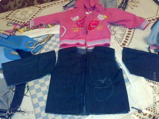 Джинсовая курточка шилась на машинке Джаноме самой простой, которая выполняет строчку и зигзаг фото 7