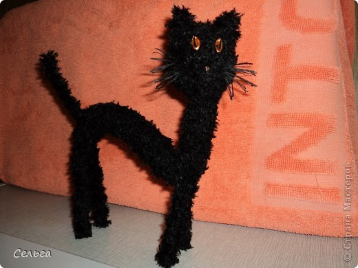 Просящий котик (он звенит, в голове теннисный шарик с бусинками). фото 3