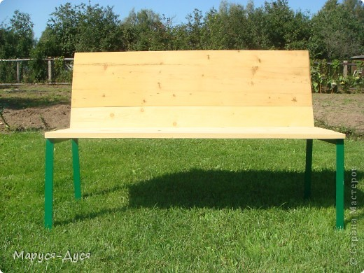Дачная скамейка с маками, делала в августе, сделала за 1 день. фото 2