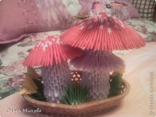 Мухоморы. Модульное оригами фото 2