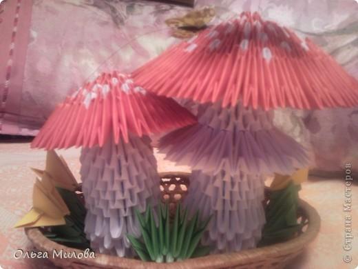 Мухоморы. Модульное оригами фото 1