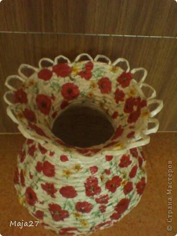 Большая ваза.Очень понравились салфетки с маками.Решила использовать их по максимуму. фото 2