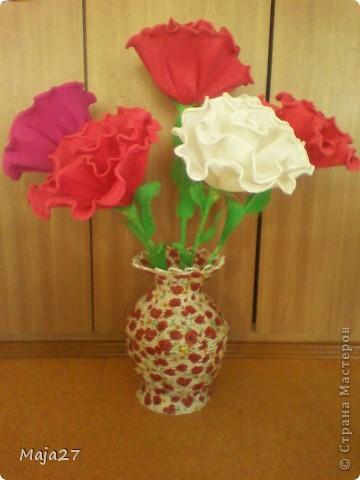 Большая ваза.Очень понравились салфетки с маками.Решила использовать их по максимуму. фото 3