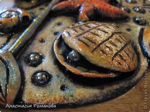 Эту рыбку я слепила в подарок очень хорошему человечку - Оле, образ рыбешки навеян Олеными морскими прогулками,  знаю что рыбка уже радует свою новую хозяйку.... фото 2