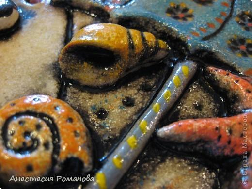 Эту рыбку я слепила в подарок очень хорошему человечку - Оле, образ рыбешки навеян Олеными морскими прогулками,  знаю что рыбка уже радует свою новую хозяйку.... фото 4