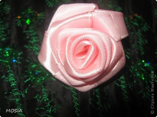 Вот какая роза у меня получилась .Все никак не могла разобрать, как ее крутить. И наконец-то дошло (не прошло и года .  ха-ха.) Оказалось очень просто и легко. фото 1