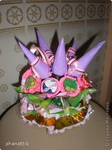 конфетный букет к празднику фото 2