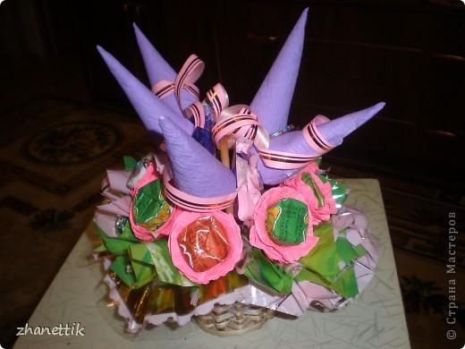 конфетный букет к празднику фото 1