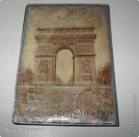 Обложка на паспорт, лицевая сторона.  фото 2