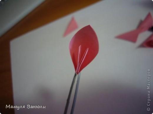 """Решая, какие именно цветочки посадить на Электру, я остановилась на модуле кусудамы """"Цветок"""". Только вот я решила делать элементы цветочка чуть проще: не из квадратика, а из треугольника. Тогда сами лепесточки с тычинками получаются нежнее (тычинок меньше и лепестки в один слой бумаги). фото 15"""