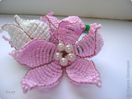 бисерные цветы фото 3