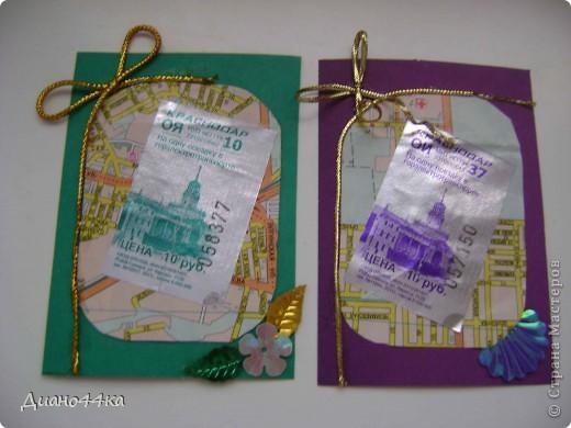 Сделала вот такие карточки и задумалась,а понравится ли,у нас в Краснодаре вот такие билетики в трамвае продаются,очень важно ваше мнение продолжать или что-нибудь изменить?