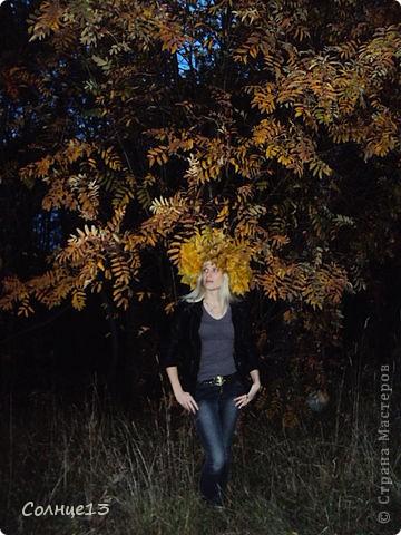 В эту субботу провожали бабье лето))) и решили сплести венок из кленовых листьев, с которым и провели фото сессию... фото 3