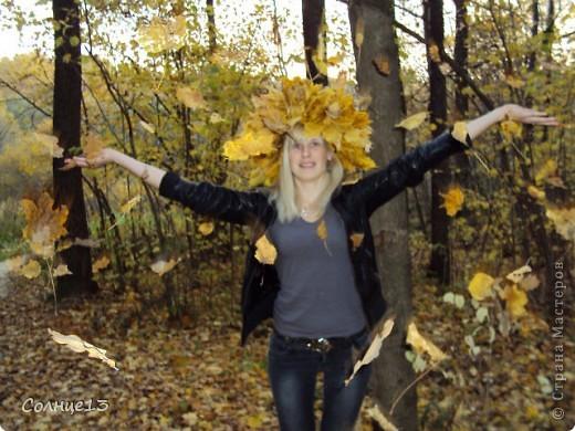 В эту субботу провожали бабье лето))) и решили сплести венок из кленовых листьев, с которым и провели фото сессию... фото 1