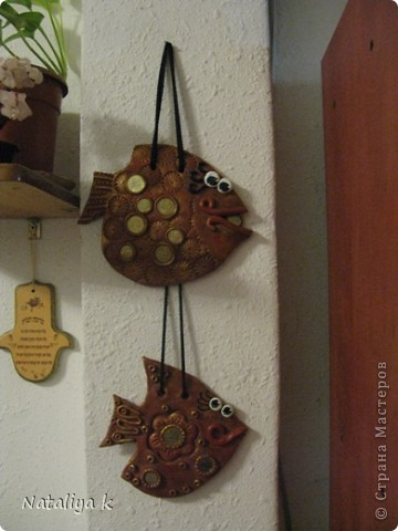 """Наконец мы дома!!!По просьбе брата в авральном темпе (за 2 дня) были изготовлены эти сувениры для ребят,которые  сегодня улетают в Израиль.Фото рыбок без лака,т.к.рыбки уже на пути в аэропорт.Надеюсь они удачно доберутся до места назначения.Главное чтобы при посадке в самолёт таможенники не изъяли """"контрабанду украинской валюты"""" ))) фото 4"""