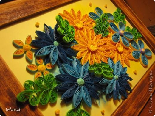 Задача стояла - сделать подарок другу =) Спасибо http://blog.naver.com/paper6262/60112440530 за идею =)  Рамка была куплена в ЛеруаМерлен, покрашена. Результат покраски мне не понравился - краска плохо легла и я решила, была не была, взяла наждачку покрупнее, и начала стирать краску - в итоге результат таков =) фото 2