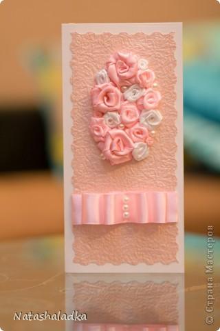 Все розы на открытке выполнены мною вручную. фото 1