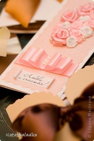 Все розы на открытке выполнены мною вручную. фото 3
