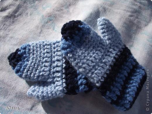 Продолжение моих вязаных рукоделок крючком.  Рукавички для дочки. фото 2