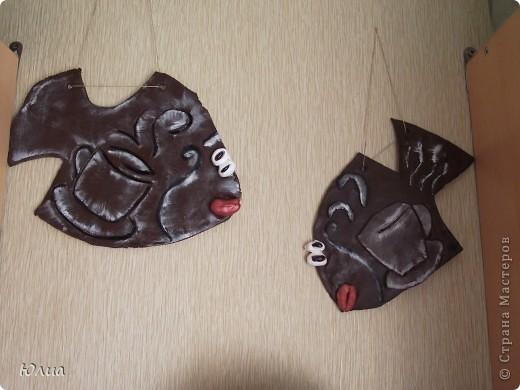 Где-то в Интернете увидела таких кофейных рыбок.  фото 2