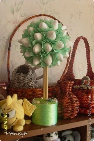 у дочки в школе выставка Рыженькая Осень,и мы  с ней напару сваяли вот такое дерево)))) фото 4