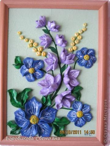 Букет из роз, лилий и колокольчиков фото 2