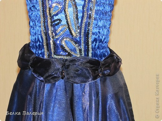 Платье для дочки на выпускной в детском саду, шила сама. Ткань - креп-сатин, верхний слой - органза. фото 4