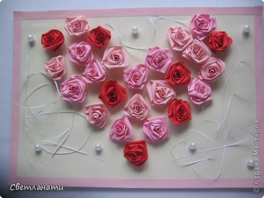 Сердце из роз фото 1