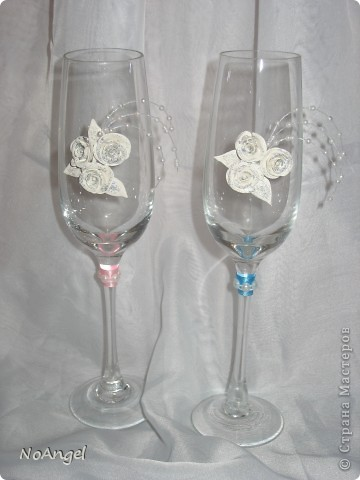 Все что я делала для своей и не только свадьбы))))) Итак: бокалы для битья фото 4