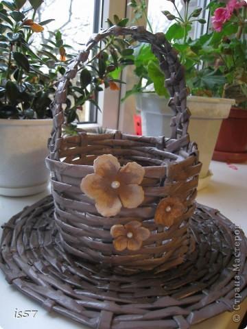Корзиночка для конфет и подставка фото 1