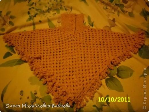 Пончо для внучки. фото 2