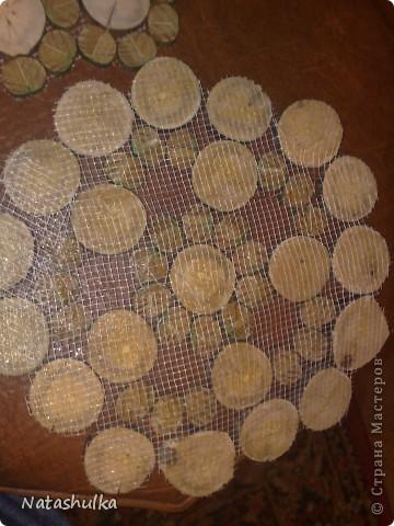 Вот такие вот подставочки - салфеточки я смастерячила себе на кухню из найденной на улице ветки и старой-старой, разломанной деревянной змейки. фото 3