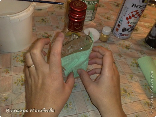 Как я делала свою бутылочку. Небольшой МК. фото 5