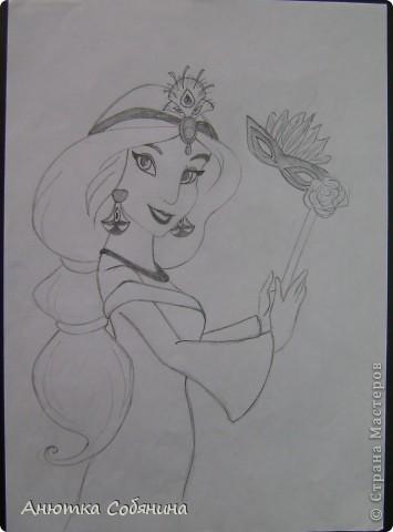 Принцесс я срисовывала с журналов моих племянниц) фото 6