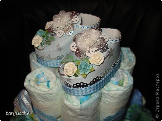 Ещё один тортик из памперсов.  фото 5
