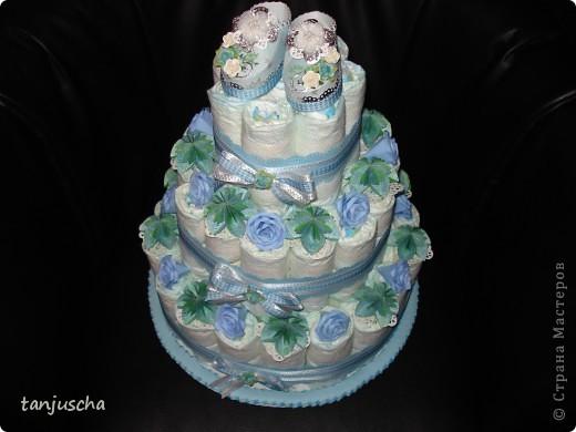 Ещё один тортик из памперсов.  фото 6
