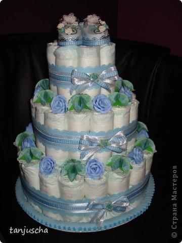 Ещё один тортик из памперсов.  фото 1