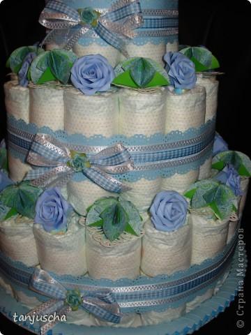 Ещё один тортик из памперсов.  фото 2