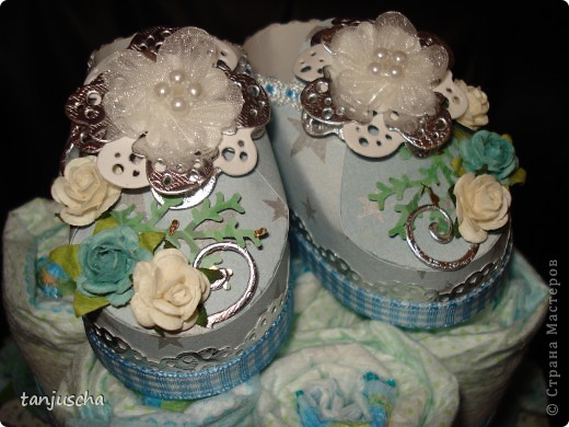 Ещё один тортик из памперсов.  фото 4