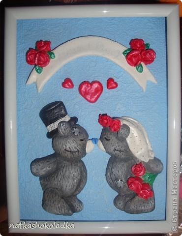Подружке на свадьбу слепила вот таких мишек Тедди. Лепила по МК SergeiPOL http://stranamasterov.ru/node/45501. Раскрашивала по МК Кириники http://stranamasterov.ru/node/91506. фото 2