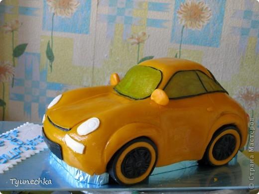 Вот такой получился торт-МАШИНА... Нелёгкая оказалась работа, я вам скажу, но результатом  осталась более-менее  довольна:))) фото 7